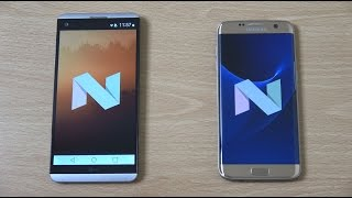 LG V20 vs Samsung Galaxy S7 Edge Android Nougat - Speed & Camera Test!