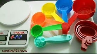 Measuring Cups And Spoons / How to Measure Ingredients