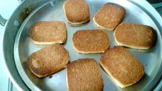 सिर्फ आटा चीनी व घी से बनाएं हेल्दी और टेस्टी बिस्कुट और बेक करें तवे और कढ़ाई में 2आसान तरीकों से।