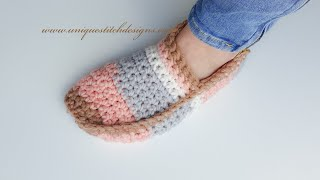 CROCHET SUPER FAST AND EASY SLIPPERS / UNISEX