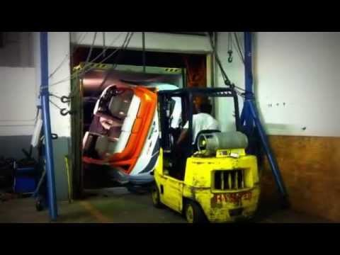 Shipping Container Trailer >> Boat Loading into container, shipping - YouTube