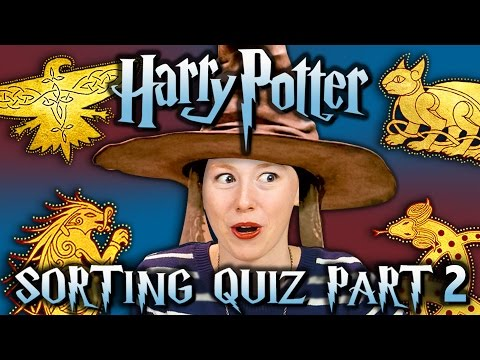 SORTING HAT QUIZ #2 - HARRY POTTER ILVERMORNY HOUSES (React Special)
