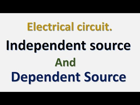 electrical circuit lecture  02  dependent and independent sources