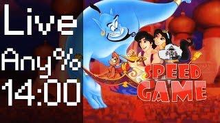 Speed Game - Aladdin Live fini en moins de 14 minutes ?