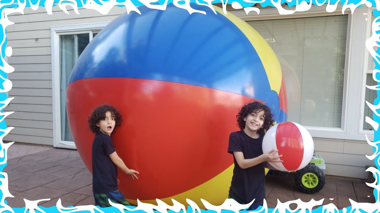 We got a GIGANTIC BEACH Ball by Mistake! We bought the WRONG one!