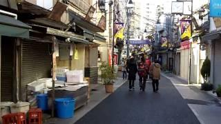 Yanaka Ginza street, Tokyo,  a short walk on January 1, 2010