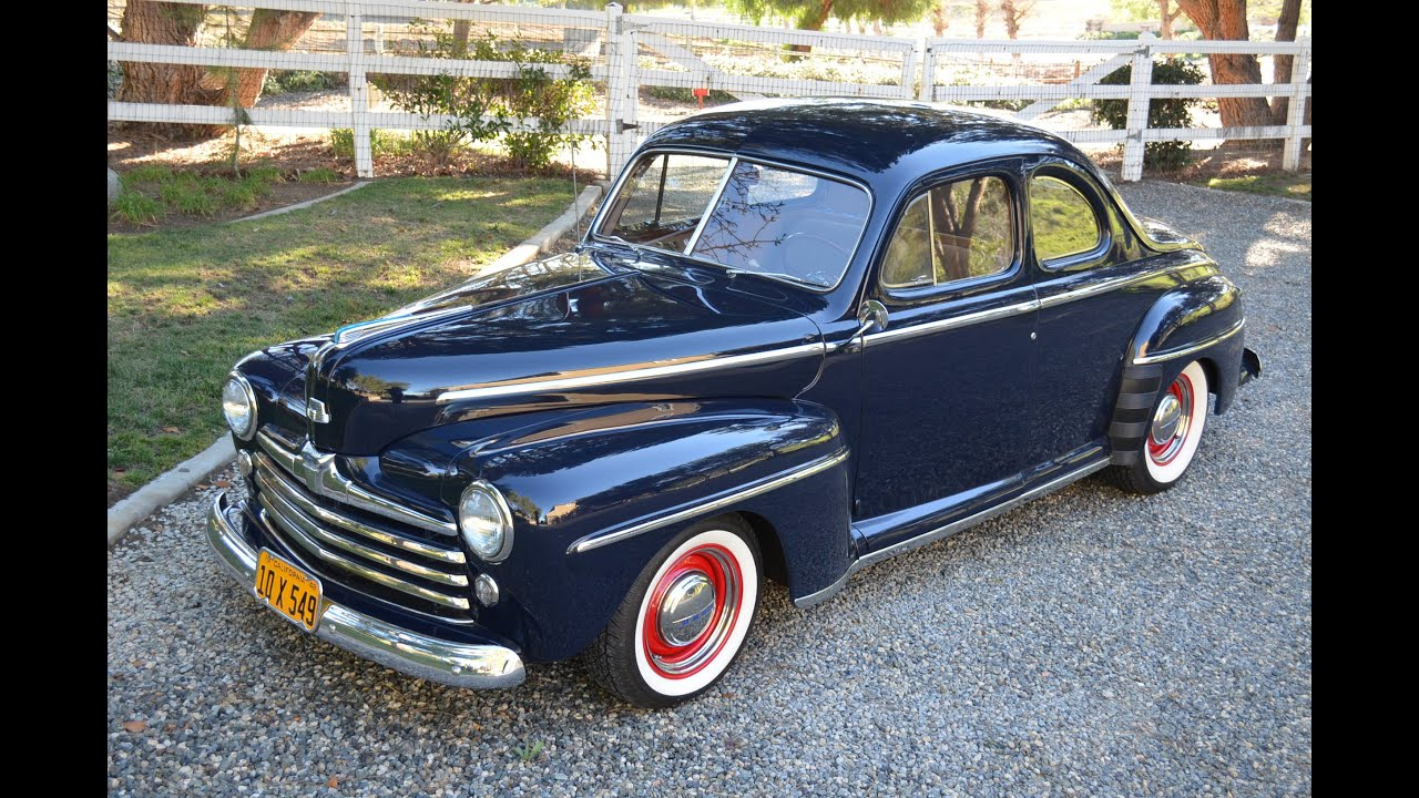 1948 ford custom coupe ca car 350v8 a c restored sold youtube. Black Bedroom Furniture Sets. Home Design Ideas