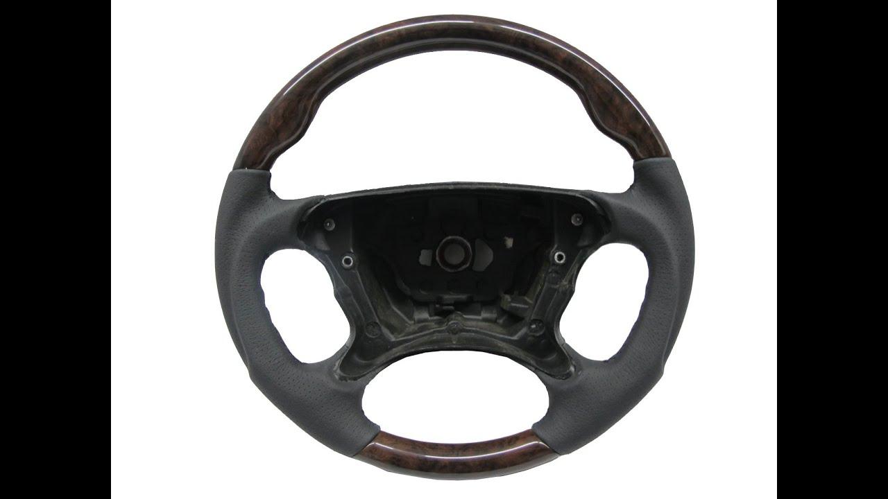 W211 s211 facelifted steering wheel sport walnut classic for Mercedes benz wood steering wheel