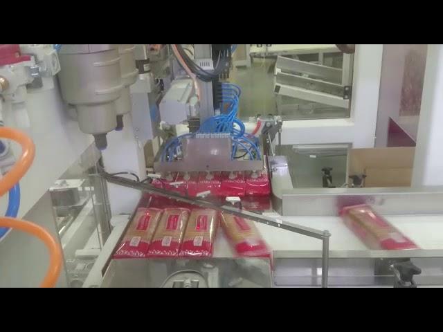 Линия  ПОСТЭКС автоматической укладки продукта в гофрокороб.