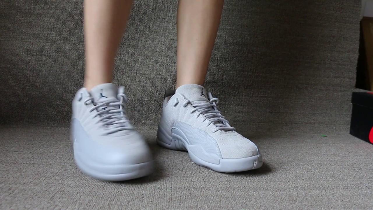 "separation shoes 1467b 50d0e Air Jordan 12 Low ""Grey"" On Foot"