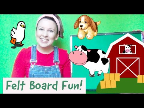 Felt Board Toddler Activities For Language And Speech Development - Old McDonald Flannel Board
