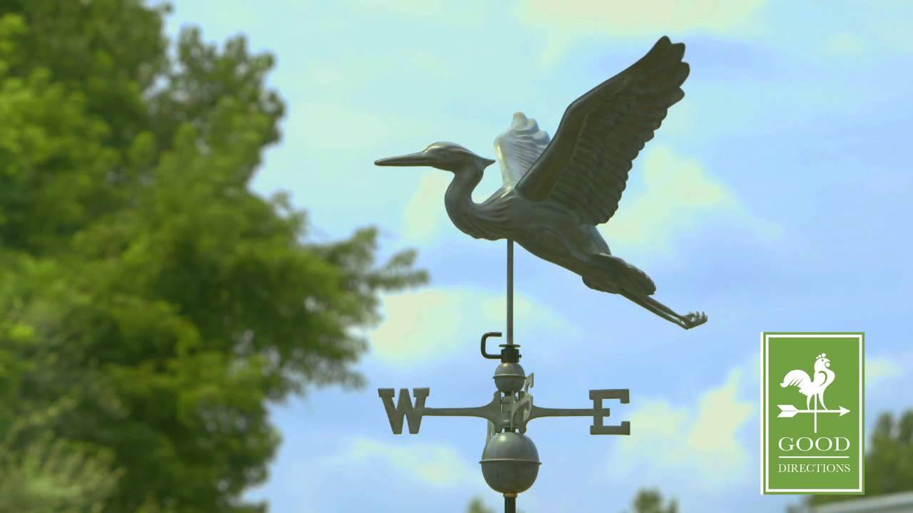 Good Directions 9606v1 Blue Heron Weathervane Blue Verde