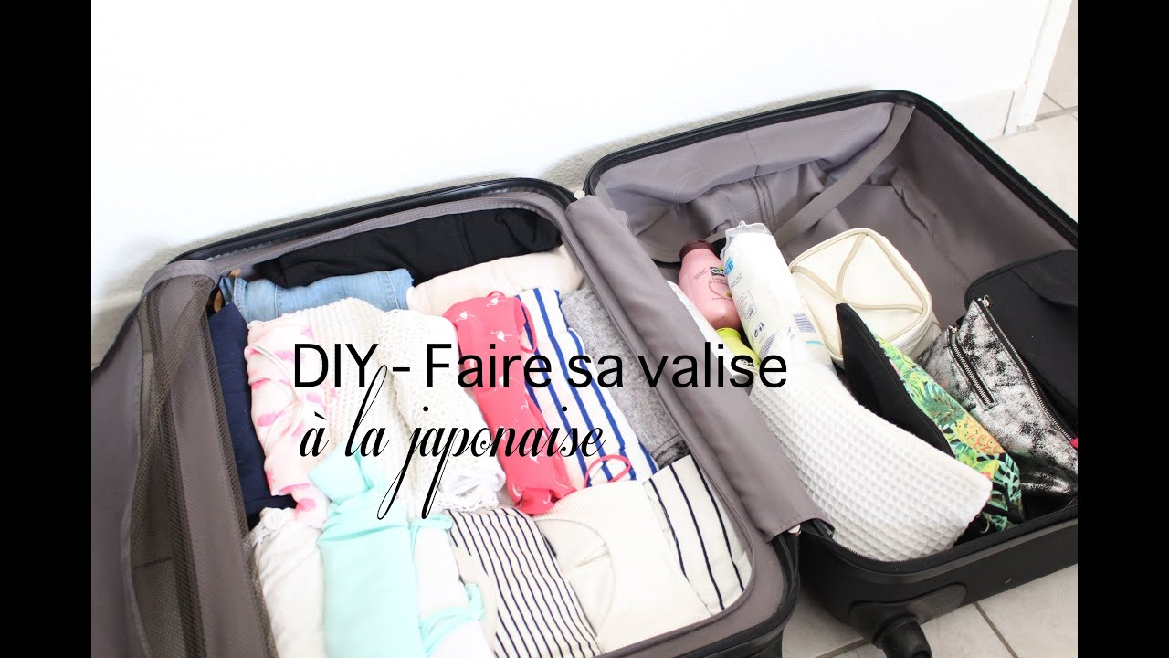 diy faire sa valise la japonaise gain de place youtube. Black Bedroom Furniture Sets. Home Design Ideas