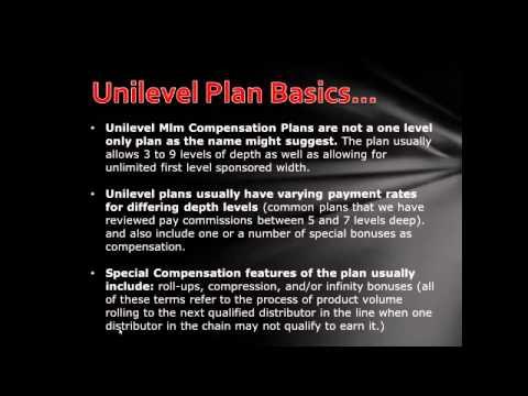 Unilevel Compensation Plan MLM Training Review