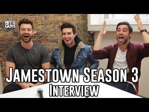 Luke Roskell, Stuart Martin & Ben Starr on Jamestown Season 3