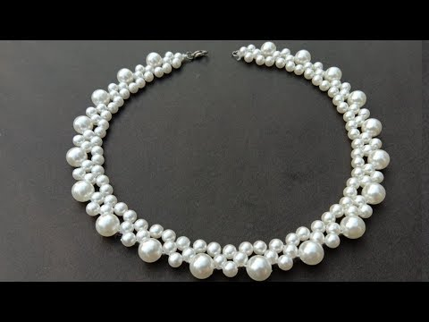 How To Make/ Pearl Necklace/ At Home/ step by step/ useful & easy