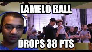 LAMELO BALL DROPS 38 PTS- AAU GAME! LaVar Ball and Lonzo Ball watch Big Ballers HIGHLIGHTS REACTION