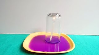 Under Water Candle Experiment   Science Experiment for Kids...