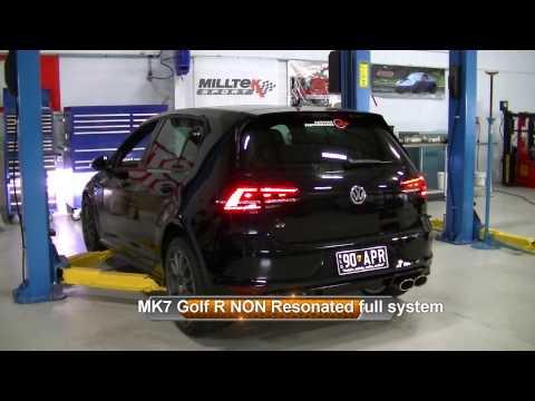 Milltek Sport Mk7R Exhaust resonated vs NON Resonated
