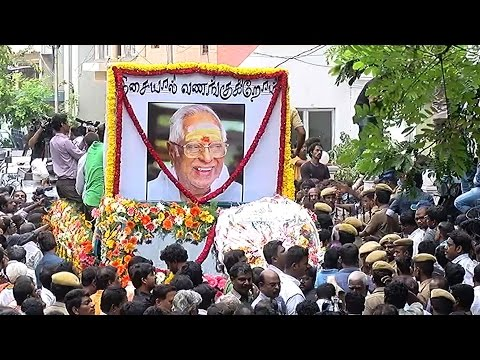 M. S. Viswanathan Funeral - Thousands of Common Man Gathered to Salute Him - Must Watch  -~-~~-~~~-~~-~- Please watch: