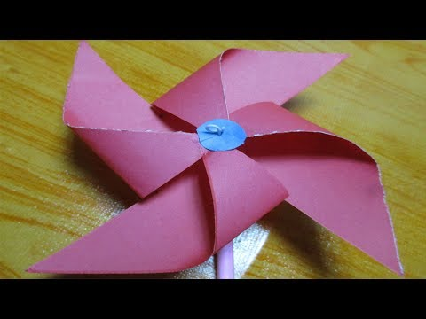 DIY How to make Paper Windmill that Spins/paper windmill tutorial step by step