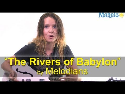 """How to Play """"The Rivers of Babylon"""" by Melodians on Guitar"""