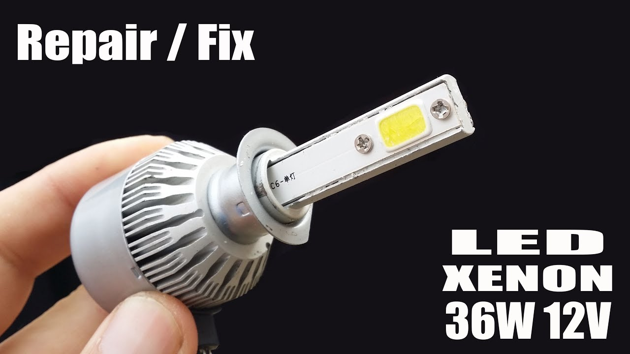 Led Replacement Headlight Bulbs >> How To Repair Fix Headlight Led Car Light Xenon
