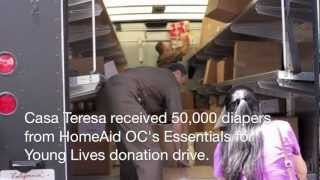 Casa Teresa Receives 50,000 Diapers