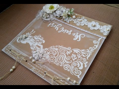 Rustic Wedding Book Tutorial