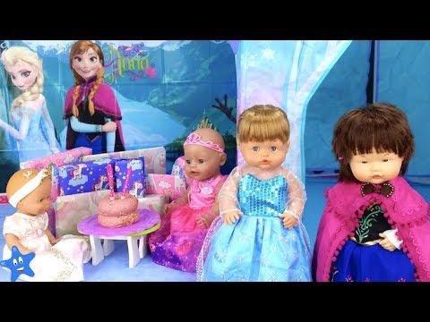 Muecas Bebes Nenuco Ana y Ona Cumpleaos FROZEN Castillo Patines sobre hielo Disfraces Diversin