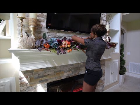2019 Fall Mantel Decorate With Me
