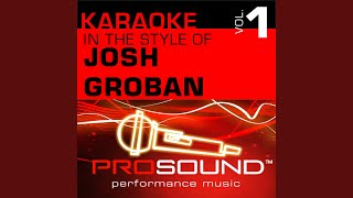 Believe (Polar Express) (Karaoke Instrumental Track) (In the style of Josh Groban)