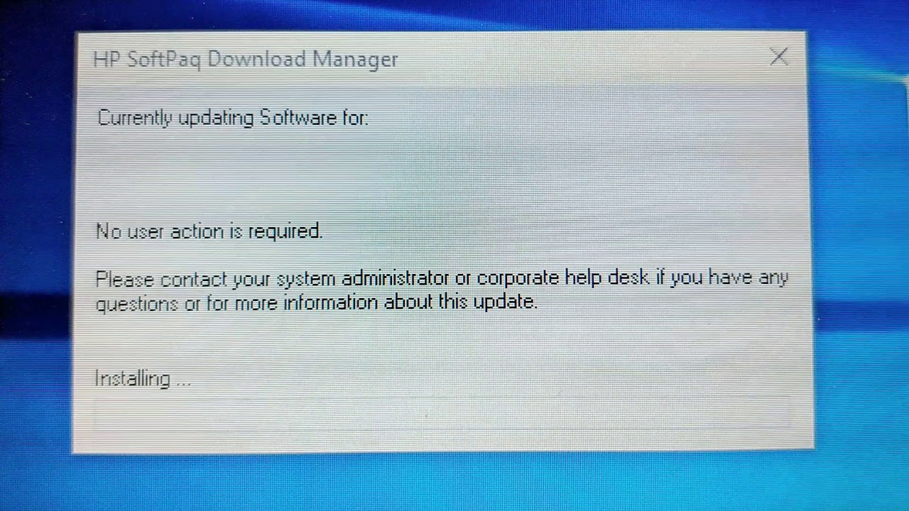 hp softpaq download manager