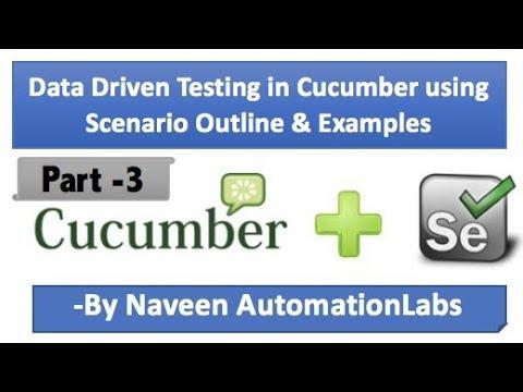 Data Driven Testing in Cucumber BDD Framework In Selenium - Part 3 - 동영상