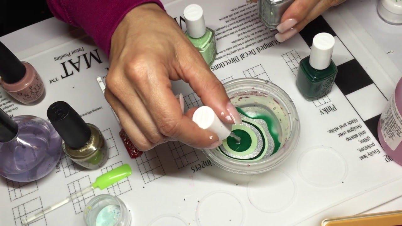 Técnica para arte de uñas usando esmalte y agua (water marble) muy ...