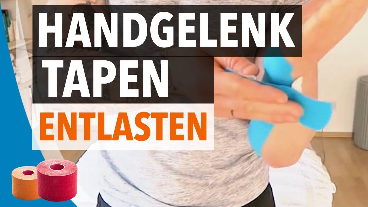 HANDGELENK TAPEN / ENTLASTEN - Anleitung zum Hand selber Tapen ...