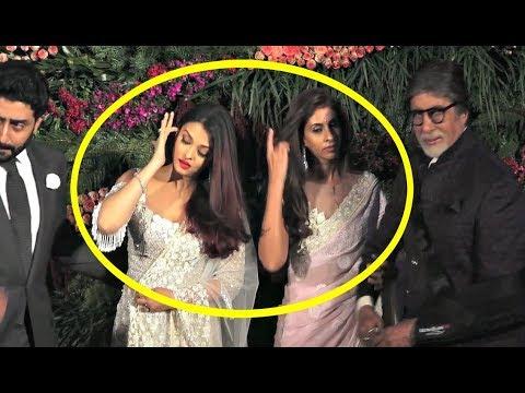 Aishwarya Rai And Shweta Nanda Cold Fight At Anushka Sharma - Virat Kohli Mumbai Reception thumbnail