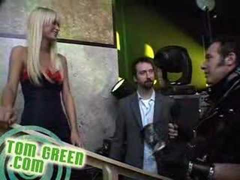 Paris Hilton Andrew Dice Clay and Tom Green backstage