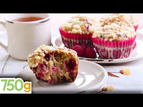 Recette de Muffins à la framboise - 750 Grammes