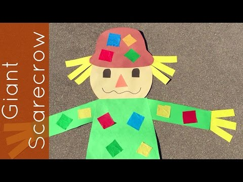 Giant Scarecrow Craft Project For Prescool and Kindergarten