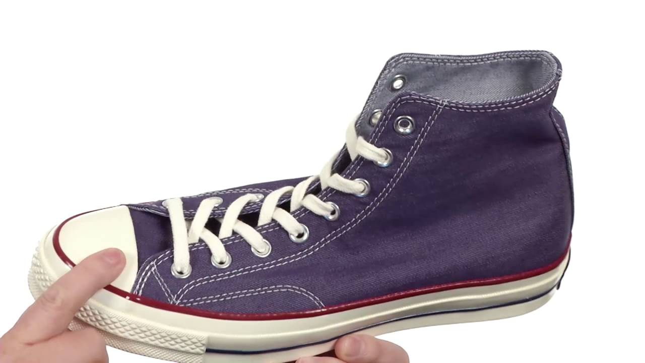 7e1d5886fe00 Converse Chuck Taylor® All Star®  70 Denim Hi SKU 8711374 - YouTube