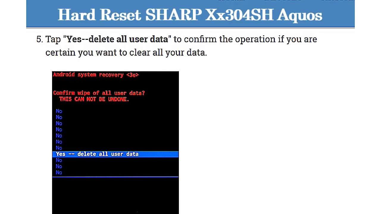 SHARP Xx304SH Aquos Hard Reset - neXgen