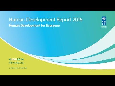 Human Development Report 2016 'Human Development for Everyone'