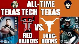 ALL TIME TEXAS TECH RED RAIDERS VS. TEXAS LONGHORNS  W THETEXASBOY91 Madden 17 Ultimate Team