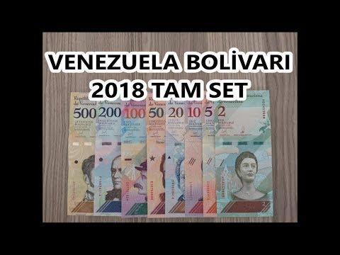 Venezuela Parası - Venezuela Bolivarı 2018 Tam Set -  Venezuela Currency - Venezuelan Bolivar 2018