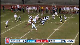 Edison #4 Kai Williams 34yd screen TD