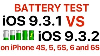 Battery test : iOS 9.3.1 vs iOS 9.3.2 Which one has better battery life?