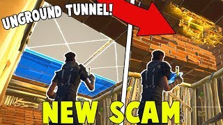 * NUEVA Estafa * La estafa del túnel! (Scammer consigue estafado) Fortnite Save The World