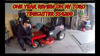 ONE YEAR REVIEW OF MY TORO TIMECUTTER SS4200 | USING COMMERCIALLY
