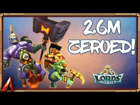 2.6M Troops Soloed! Goblin Familiar In Action! Lords Mobile